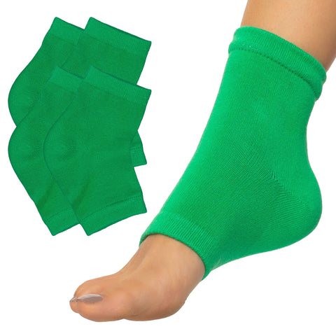 Moisturizing Heel Socks with Gel to Heal Dry Cracked Heels - Cotton - ZenToes Zen Toes