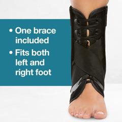 Image of Lace Up Ankle Stabilizer Brace with Compression Straps - ZenToes
