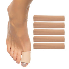 ZenToes Fabric Gel Lined Toe Tubes 5 Pack Heal Callus Corn Prevent Rubbing Blisters Small Medium Large Big