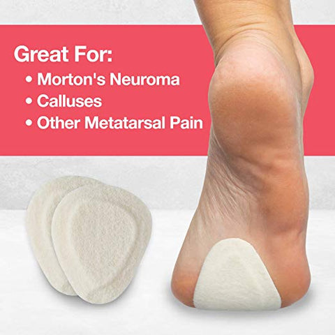Metatarsal Felt Pads - 6 Pair Pack - ZenToes