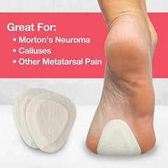 Image of Felt Metatarsal Pads Ball of Foot Shoe Inserts - 6 Pair Pack - ZenToes