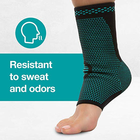 Ankle Compression Sock Sleeves - 1 Pair - ZenToes