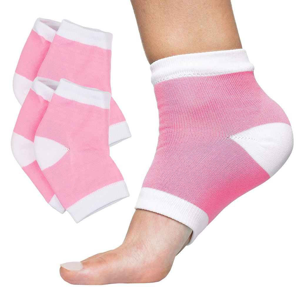 Therapeutic for Dry Cracked Feet Relieve Heel Pain FOOTINSOLE.COM Gel No Shoe Socks Prevent Back Problems