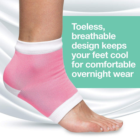 Moisturizing Heel Socks with Gel to Heal Dry Cracked Heels - Cotton - ZenToes