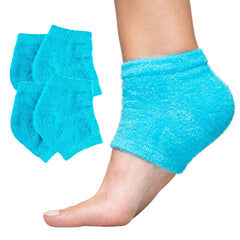 Image of Moisturizing Heel Socks with Gel to Heal Dry Cracked Heels - Fuzzy - ZenToes