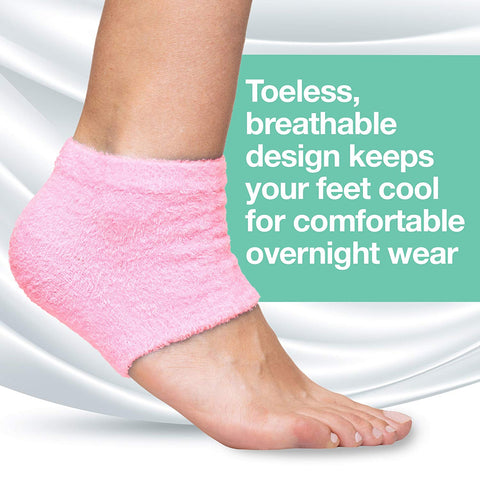 Moisturizing Heel Socks with Gel to Heal Dry Cracked Heels - Fuzzy - ZenToes