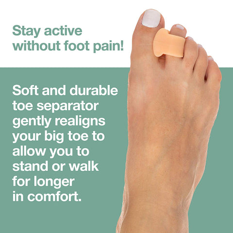 Single Loop Toe Spacer for Bunion Pain - 4 Pack - ZenToes