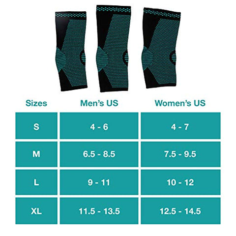 Ankle Compression Sock Sleeves - 1 Pair - ZenToes Zen Toes