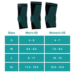 Image of Ankle Compression Sock Sleeves - 1 Pair - ZenToes