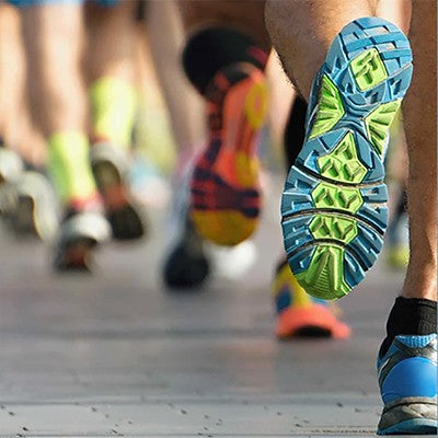 Can I run with my heel pad on?