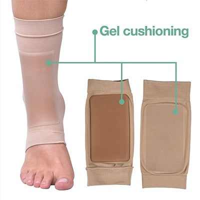 What type of ankle pain should I treat with an ankle pad?