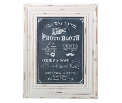 Personalized Photo Booth Frame Sign