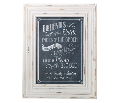 Personalized Framed Seating Sign
