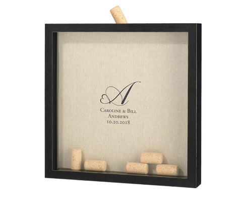 Frame for Signing Corks - Heart Monogram