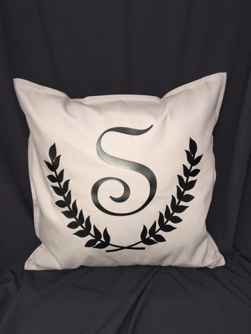 Single Initial Pillow