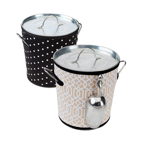 Monogrammed Ice Bucket with Cover