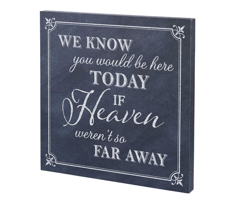 """Here Today"" Canvas Wedding Sign"