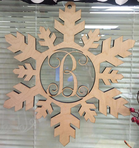 Snow Flake with Single Initial
