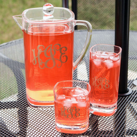 Acrylic Monogrammed Pitcher