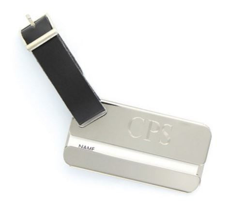 Nickel Plated Luggage Tag