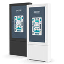 Chief Impact™ Floor Mounted Back-to-Back Kiosk, Portrait 55""