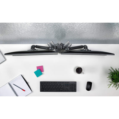 CHIEF Monitor Arm Black CHIEF KX Low-Profile Dual Monitor Arm, Column Desk Mount, Black