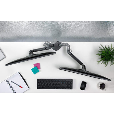 CHIEF Monitor Arm Silver CHIEF KX Low-Profile Dual Monitor Arms, Column Desk Mount, Silver