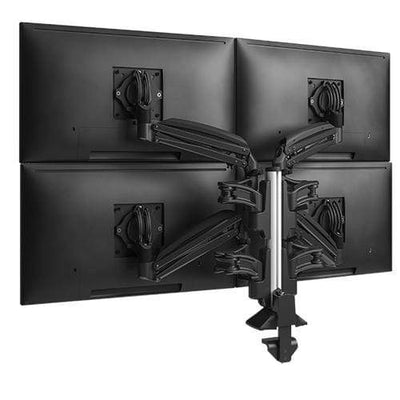 CHIEF Monitor Arms Black CHIEF KX Low-Profile Quad Monitor Arms, Column Desk Mount, Black