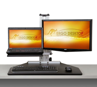Ergo Desktop Workstation Laptop/Monitor Mounts Black / None / None Ergo Desktop Hybrid Kangaroo