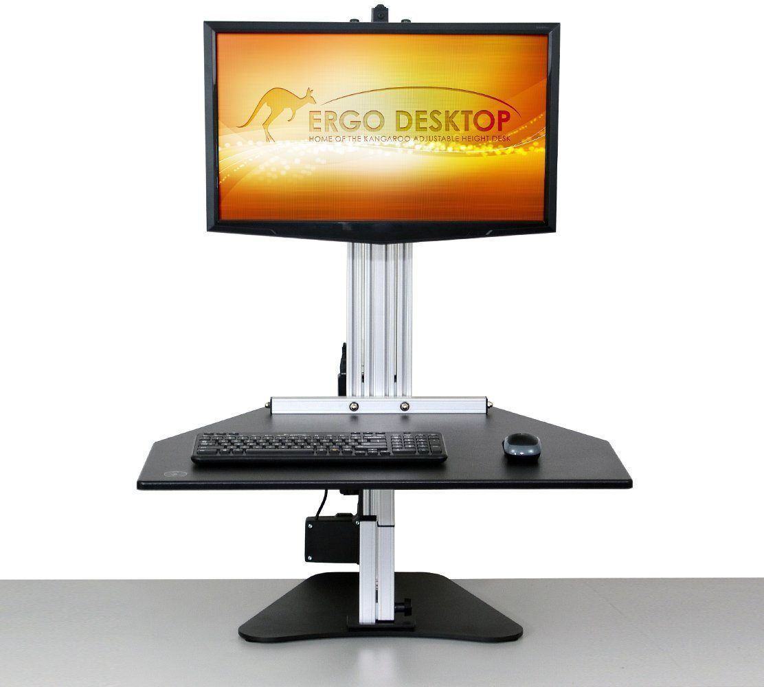 Ergo Desktop Workstation Monitor Mounts Black / None Ergo Desktop Electric Kangaroo Pro