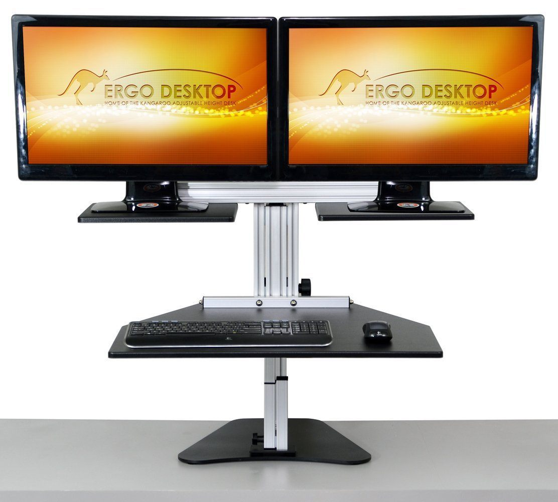 Ergo Desktop Workstation Monitor Mounts Black / None / None Ergo Desktop Dual Kangaroo