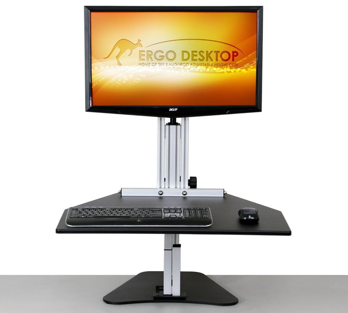 Ergo Desktop Workstation Monitor Mounts Black / None / None Ergo Desktop Kangaroo Pro