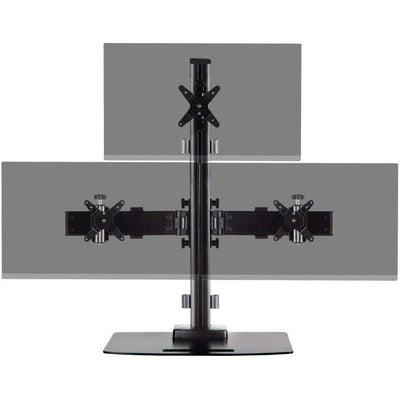Ergotech Monitor Desk Stand Ergotech Triple 1x2 Monitor Desk Stand 130 Series