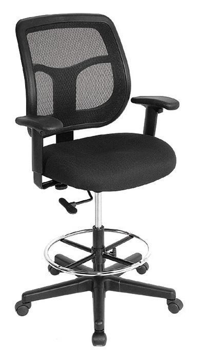 Eurotech Drafting Chair BLACK MESH / None Eurotech apollo drafting chair