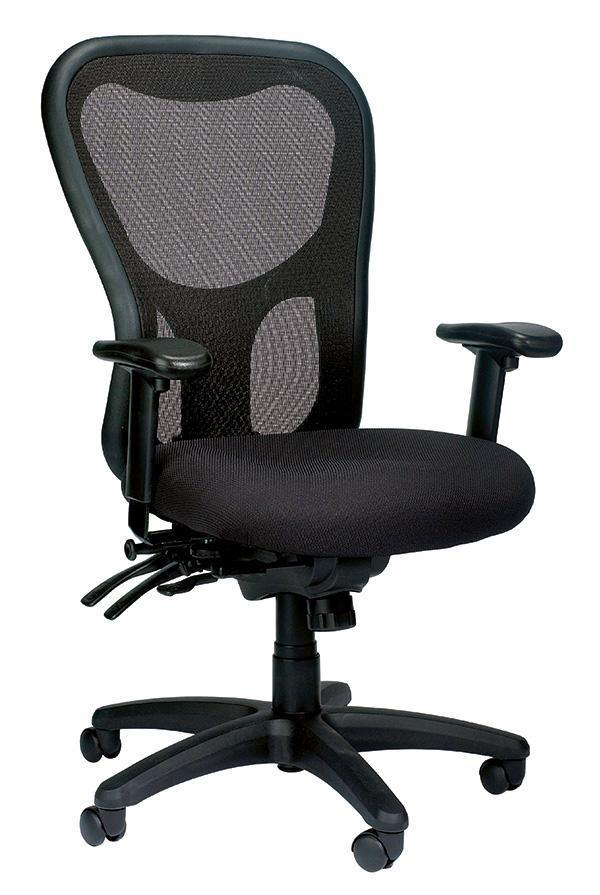 Eurotech Office Chair BLACK MESH / None Eurotech apollo high-back multi-function w/ seat slider