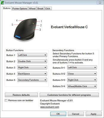 Evoluent Mouse Evoluent VerticalMouse C Right Wired