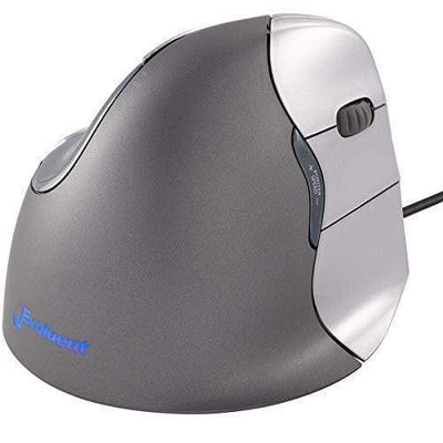 Evoluent Mouse Evoluent VM4R VerticalMouse 4 Right Hand Ergonomic Mouse with Wired USB Connection (Regular Size)