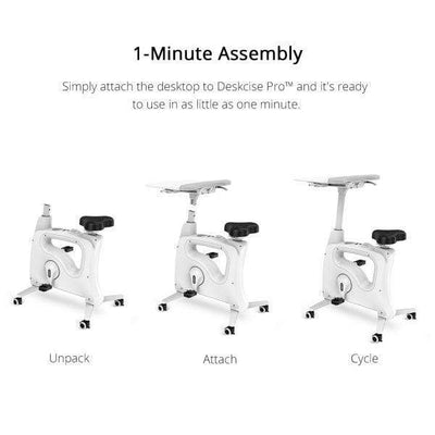 FlexiSpot Desk Bike V9 / White FlexiSpot All-in-One Desk Bikes – Deskcise Pro™ V9 / V9U