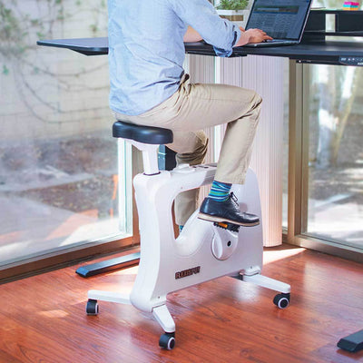 FlexiSpot Desk Bike V9U / White FlexiSpot All-in-One Desk Bikes – Deskcise Pro™ V9 / V9U