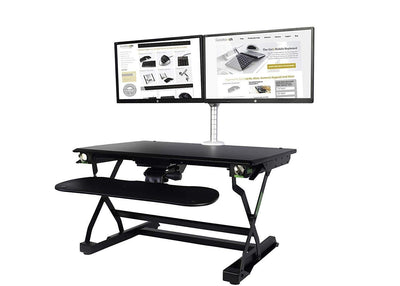 Goldtouch Sit-Stand Desktop Goldtouch EasyLift Pro Sit/Stand Desk W/Integrated Adjustable Keyboard Tray