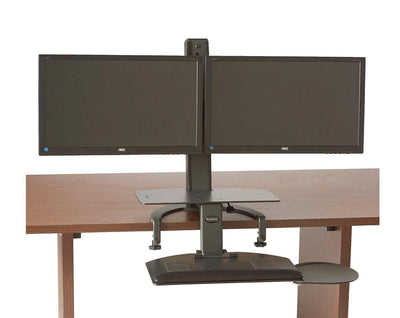 HealthPostures Assisted Lift Standing Desks HealthPostures 6350 TaskMate Go Dual Monitor Standing Desk