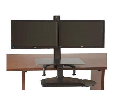 HealthPostures Assisted Lift Standing Desks HealthPostures 6351 TaskMate Go Sit Stand Dual Monitor with Large Work Surface