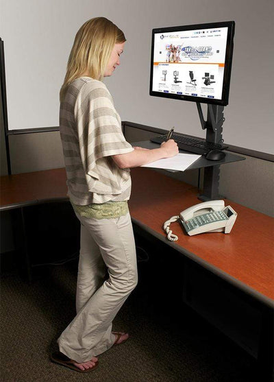 HealthPostures Assisted Lift Standing Desks HealthPostures 6400 askMate EZ Computer Station