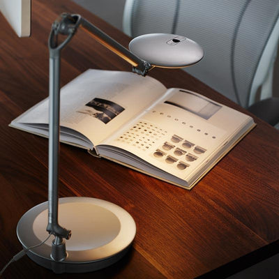 Humanscale Desk Lamp Desktop Base / White Humanscale Element Disc Task Light