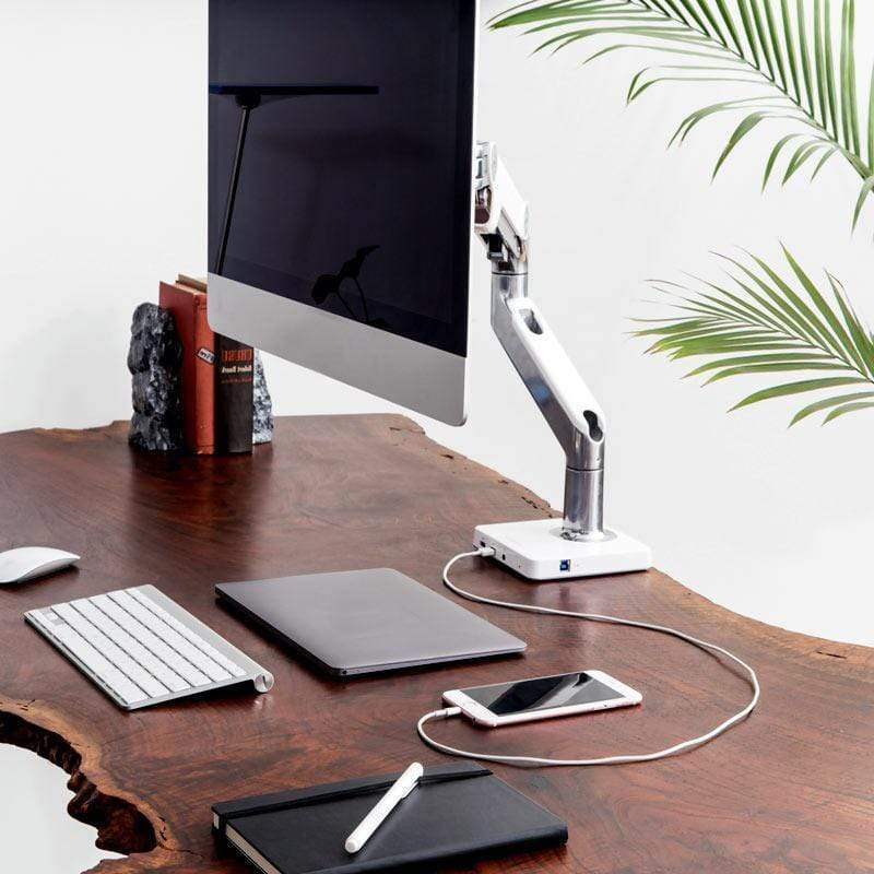 Humanscale Docking Station M2 / Polished Aluminum with Gray Trim Humanscale M/Connect USB 3.0