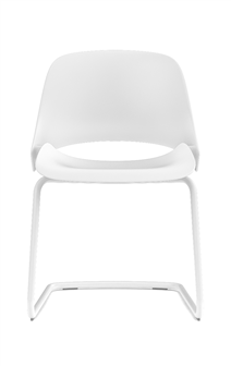 Humanscale Ergonomic Chair Cantilever / White Powder Coat Humanscale TREA Ergonomic Office Chair