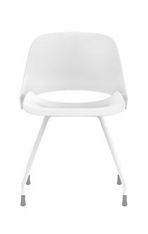 Humanscale Ergonomic Chair Four Legs / White Powder Coat Humanscale TREA Ergonomic Office Chair