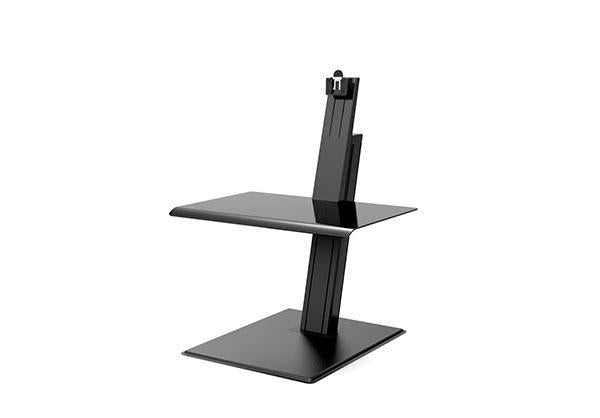 Humanscale Laptop & Monitor Sit/Stand Single / Black Humanscale QuickStand Eco Sit Stand Workstation Single, Dual, or Laptop