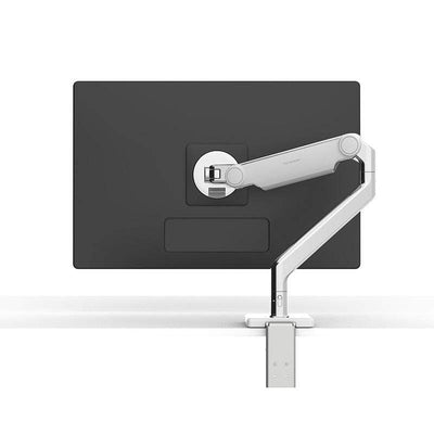 Humanscale Monitor Arm S - Silver with Gray Trim / CM - Two-Piece Clamp Mount with Base Humanscale M2.1 Single Monitor Arm