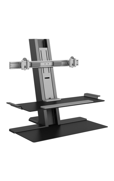 Humanscale Monitor Sit/Stand CROSSBAR / Black Humanscale Quickstand Sit to Stand Workstation